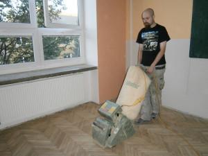 Broušení parketové podlahy